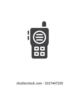 Walkie talkie icon vector, filled flat sign, solid pictogram isolated on white. Radio transceiver symbol, logo illustration.