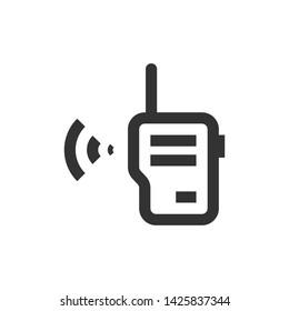 Walkie talkie vector icon, monocolor symbol