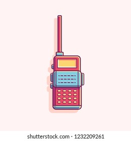 Walkie Talkie vector illustration, talkie walkie radio flat vector design, walkie talkie vector icon illustration