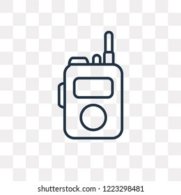 Walkie Talkie vector outline icon isolated on transparent background, high quality linear Walkie Talkie transparency concept can be used web and mobile