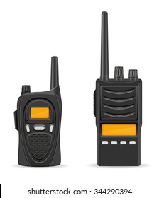 walkie-talkie communication radio vector illustration isolated on white background