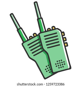 Walkie-talkie or Portable radio transceiver set