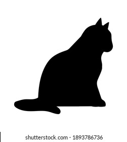 Walking Cat vector icon. Cat silhouette symbol. Linear style sign for mobile concept and web design. House animals symbol logo illustration. vector graphics - Vector.
