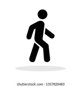 Walking icon in trendy flat style. Man Walking / Activity / Sport symbol for your web site design, logo, app, UI Vector EPS 10.