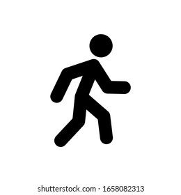 Walking icon in trendy flat style isolated