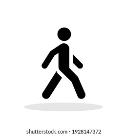 Walking icon in trendy flat style. Man Walking, Activity, Sport symbol for your web site design, logo, app, UI Vector EPS 10.