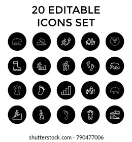 Set 20 Team Outline Icons Such Stock Vector Royalty Free 762967681