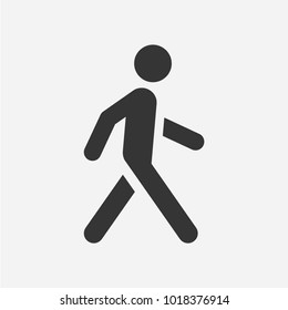 Walking man. Vector icon