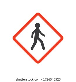 Walking man vector icon. People walk sign illustration.
