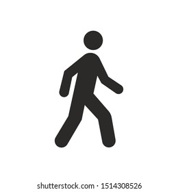 Walking Sign Isolated On White Background. Man walk Symbol Simple, Flat, Vector, Icon You Can Use Your Website Design, Mobile App Or Industrial Design