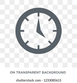 Wall clock icon. Wall clock design concept from Time managemnet collection. Simple element vector illustration on transparent background.
