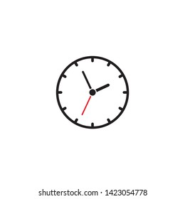 wall clock icon on a white background