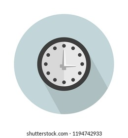 wall clock icon. Simple illustration of wall clock vector icon for web