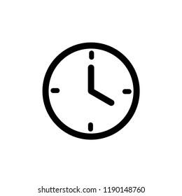 wall clock icon vector template