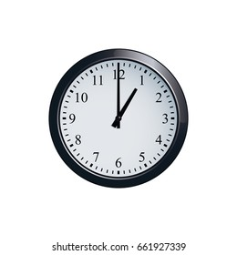 Wall clock set at 1 o'clock