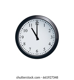 Wall clock set at 11 o'clock