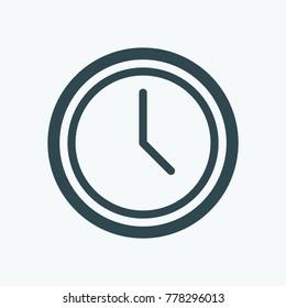 Wall clock vector icon