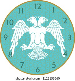 "Wall Clock is a vector work. This theme ""Selcuklu Turkic States"" and was prepared. You can print in any size you want. You can remove the time digits and use them as a table."