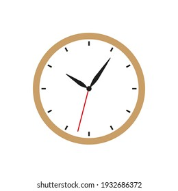 Wall clocks icon on white background. Vector illustration