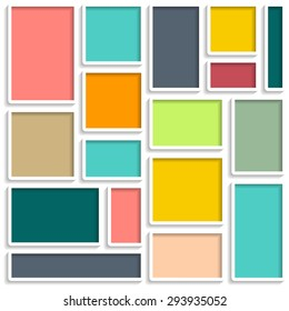 wall frames vector template