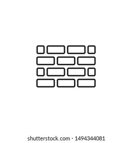 Wall Icon in trendy flat style isolated on white background. Wall brick symbol for your web site design, logo, app, UI. Vector illustration, EPS10.