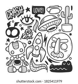 Wall Murals Hand Drawn Doodle Vector