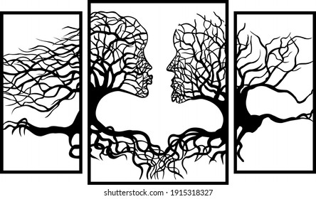Wall panel.  The vector drawing is intended for cutting on the Flame and Laser CNC machine.