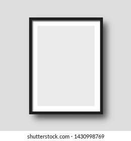 Wall picture frame vector.  Painting modern blank artwork.