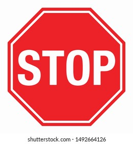 Wall Red Stop Sign Vector illustration EPS10