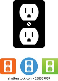 Wall socket / electrical plug icon