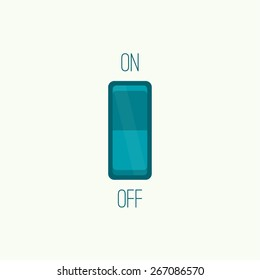 Wall Switch on, off position. Button.