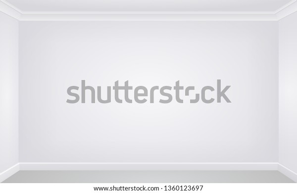 Wall White Empty Room Vector Template Stock Vector (Royalty