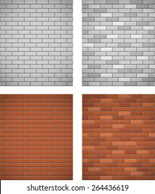 wall of white and red brick seamless background vector illustration