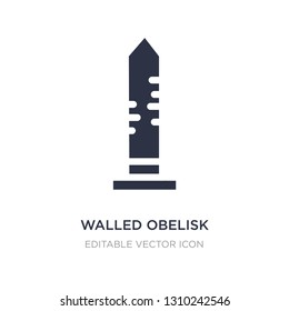walled obelisk icon on white background. Simple element illustration from Monuments concept. walled obelisk icon symbol design.