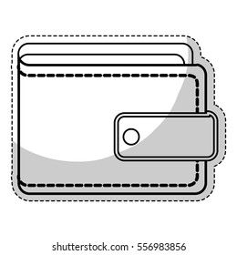 wallet accessory icon over white background. vector illustration