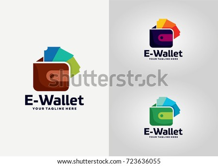 wallet app logo template design vector stock vector royalty free