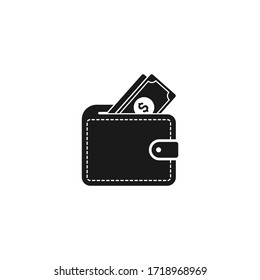 Wallet icon design isolated on white background. Vector illustration