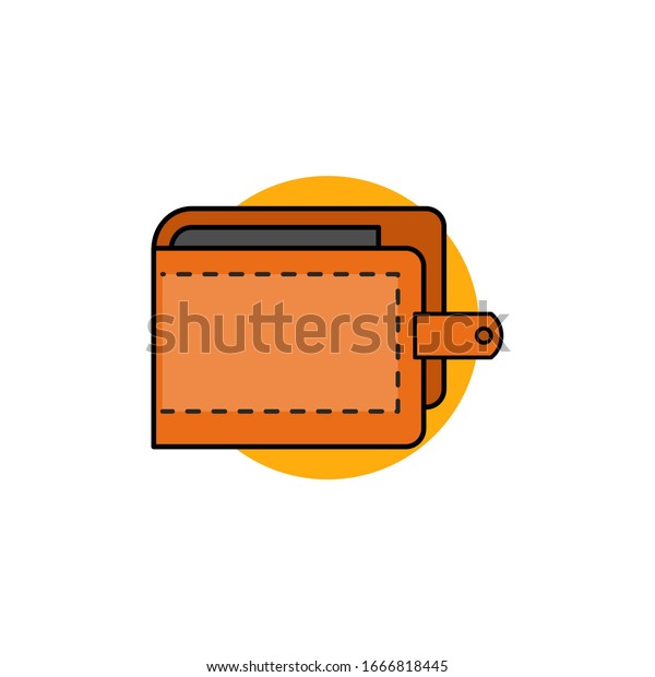 wallet icon illustration simple minimalist flat stock vector royalty free 1666818445 shutterstock