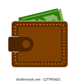 wallet icon - money wallet isolated, money cash illustration - Vector wallet