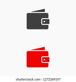 Wallet Icon vector 10eps