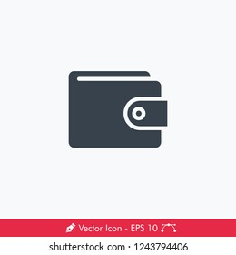 Wallet Icon / Vector