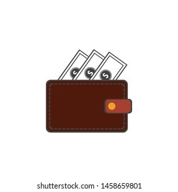 wallet icon vector illustration template