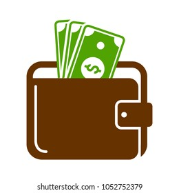 wallet sign illustration
