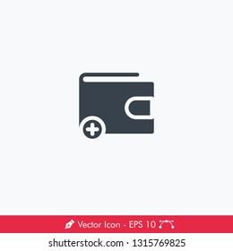 Wallet (Top Up) Icon / Vector