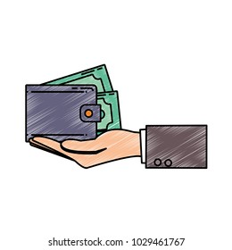 wallet vector illustration