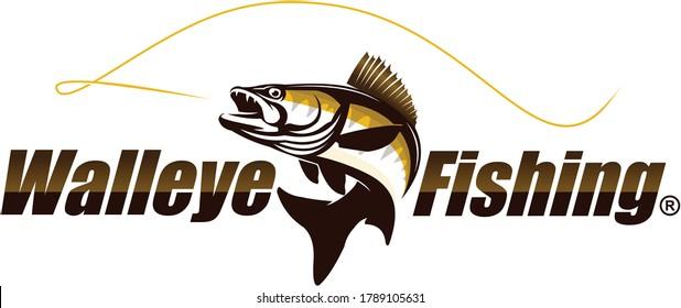 Walleye Zander Fish Logo. Unique and Fresh Walleye Zander fish logo template. Great for your Zander / walleye fishing acitivity.