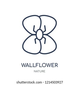 Wallflower icon. Wallflower linear symbol design from Nature collection. Simple outline element vector illustration on white background.