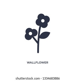 wallflower icon. Simple element illustration from nature concept. wallflower editable symbol design on white background. Can be use for web and mobile.