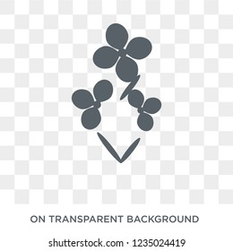 Wallflower icon. Trendy flat vector Wallflower icon on transparent background from nature collection.