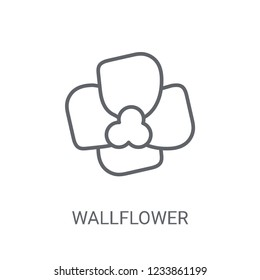 Wallflower icon. Trendy Wallflower logo concept on white background from Nature collection. Suitable for use on web apps, mobile apps and print media.